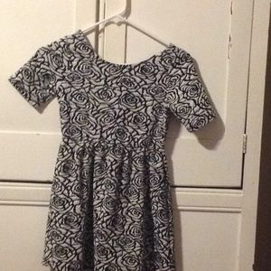 Size 10 black and white dress